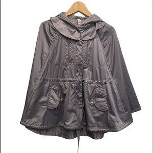Rare Lululemon Wanderful Silver-Gray Hooded Waterproof Poncho Size M/L GUC